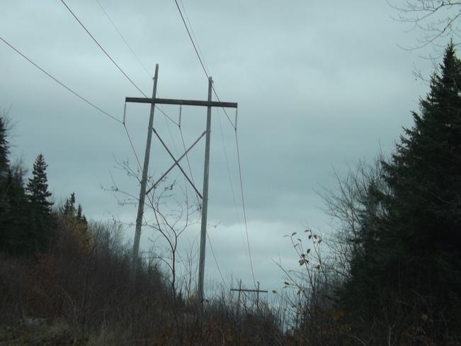 grey snow clouds Wolfville, Nova Scotia Canada
