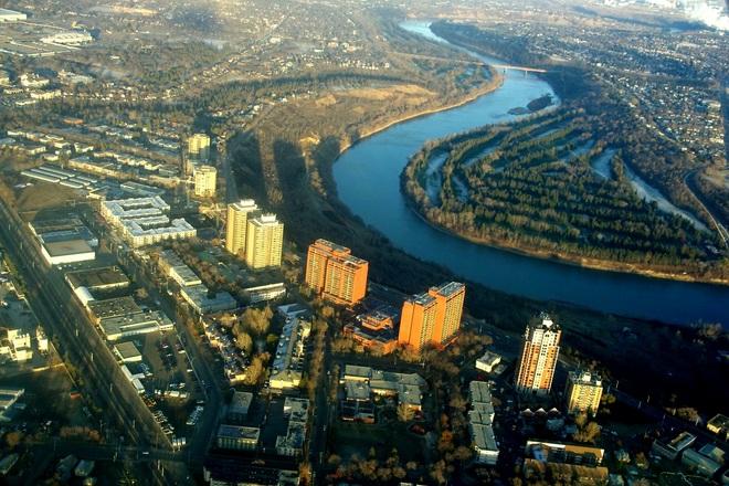 from above Edmonton, Alberta Canada