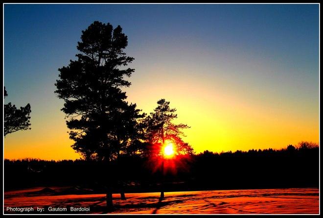 Phenomenal Sunset! Edmonton, Alberta Canada