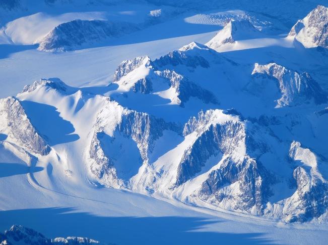 Greenland from the airplane Gander, Newfoundland and Labrador Canada