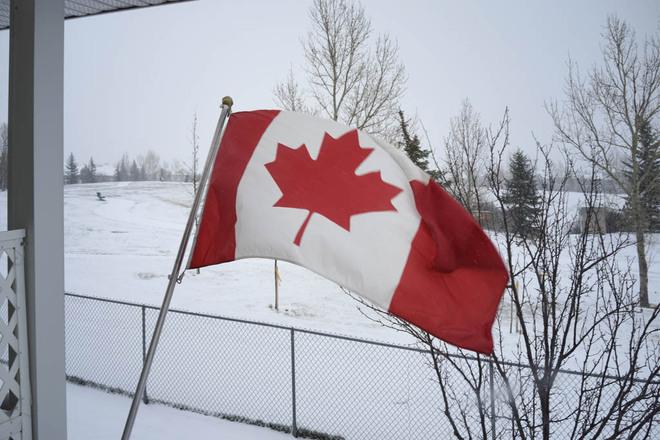 Northeast Wind with Snow Lethbridge, Alberta Canada