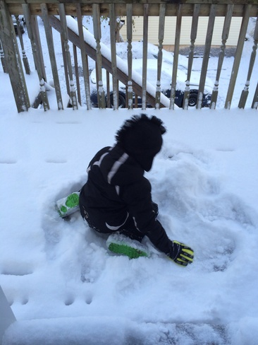 first snowfall London, Ontario Canada