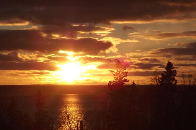 Coucher de soleil Paquetville, New Brunswick Canada