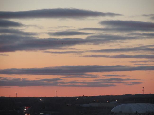 Orange & Mauve skies across the horizon
