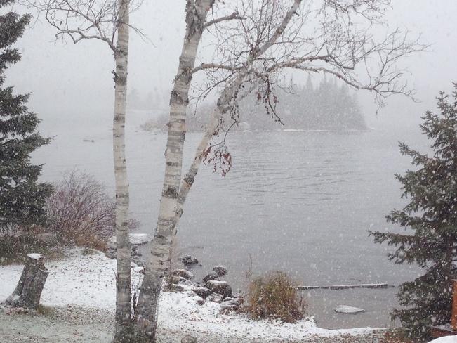 It's Snowing Rennie, Manitoba Canada