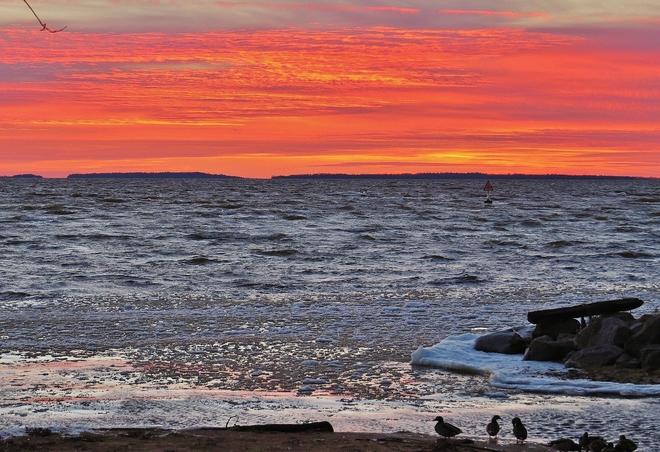 A 'ducky' Lake Nipissing sunset! North Bay, Ontario Canada