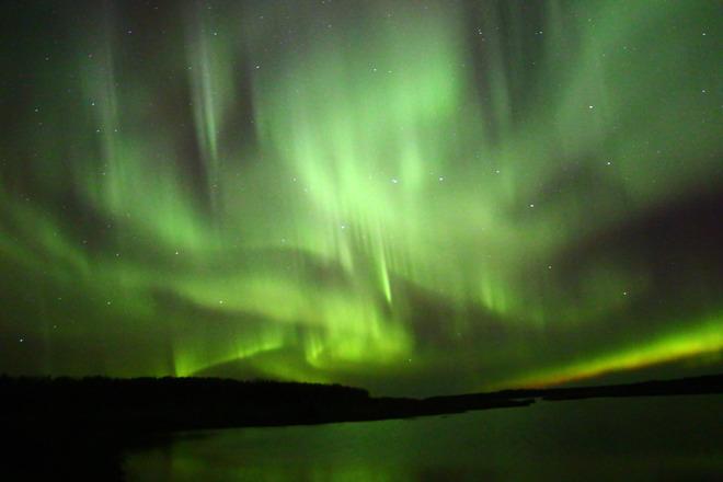 Northern Lights The Pas, Manitoba Canada