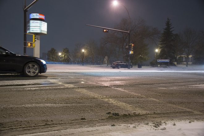 Winter has arrived Edmonton, Alberta Canada