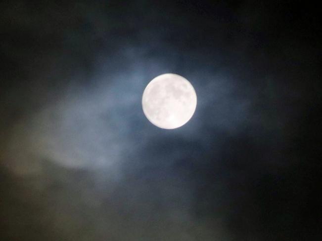 cloudy moon Mississauga, Ontario Canada