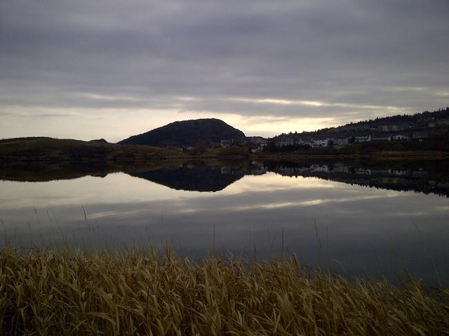 Reflections on Quidi Vidi Village St. John's, Newfoundland and Labrador Canada