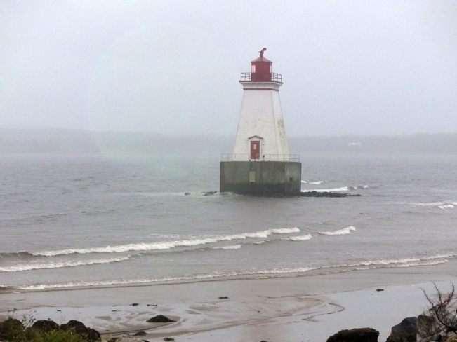 Wet, windy evening Shelburne, Nova Scotia Canada