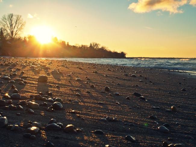 Fall sunset Sarnia, Ontario Canada