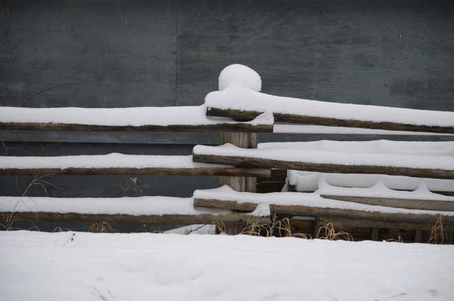 snow fence Fort St. John, British Columbia Canada