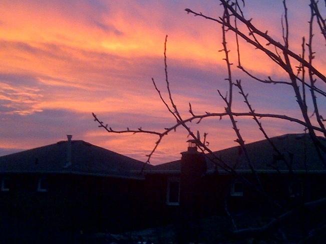 Morning sky Vaughan, Ontario Canada