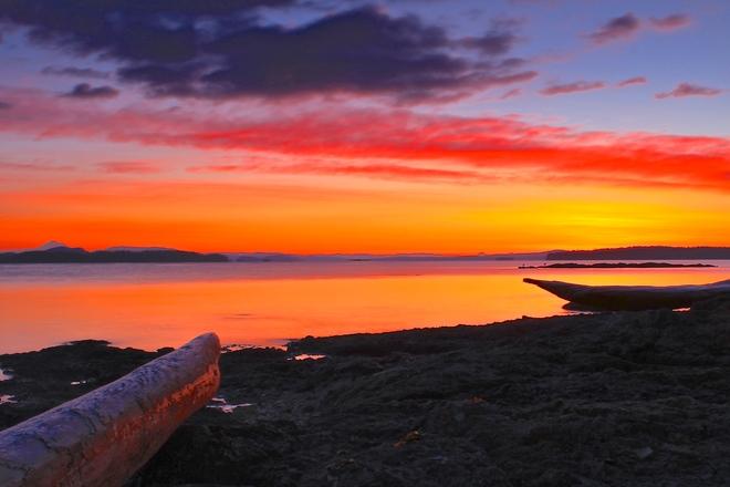cool crisp morning Sidney, British Columbia Canada