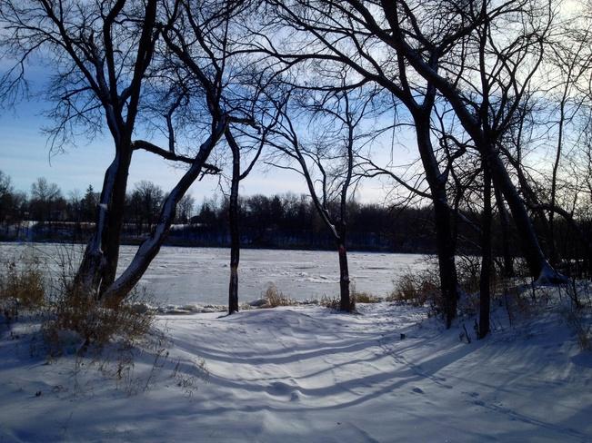 Down by the river Winnipeg, Manitoba Canada