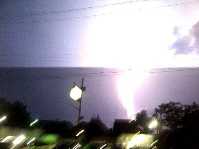 Lightning during an intense storm Hamilton, Ontario Canada