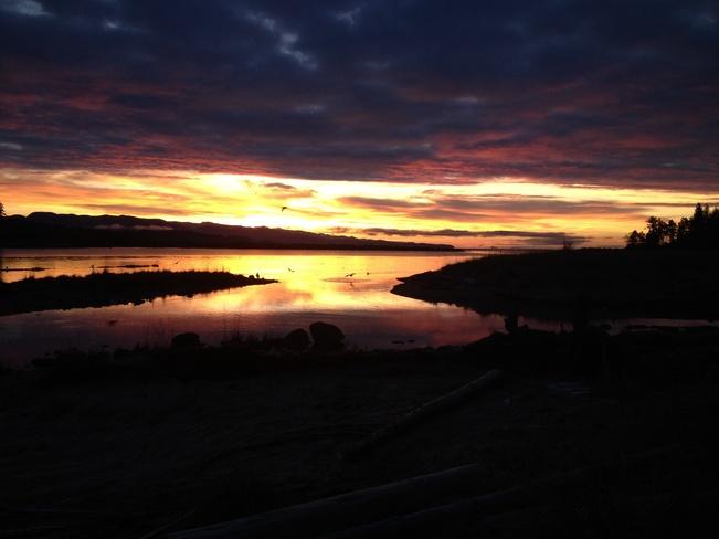 mornig sky Powell River, British Columbia Canada