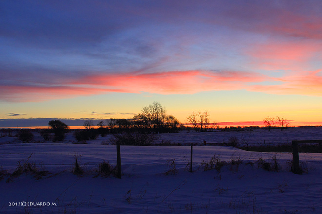 Nice Sunrise Strathmore, Alberta Canada