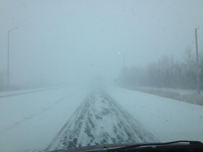 fall snow storm Dugald, Manitoba Canada