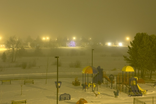 The Fog moved on Swan Hills, Alberta Canada