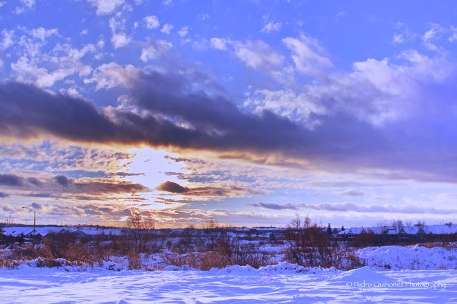 Suburban Sunset Bowmanville, Ontario Canada
