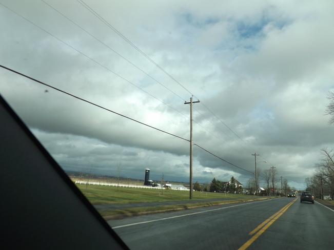 cloud banks over the north mountain Port Williams, Nova Scotia Canada