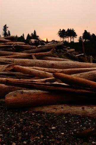 Sunset at beach Victoria, British Columbia Canada