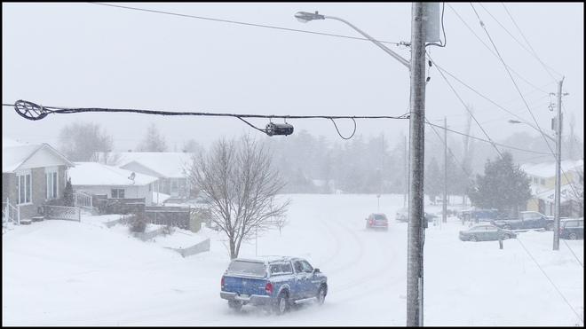 A snowy Sat. in Elliot Lake. Elliot Lake, Ontario Canada