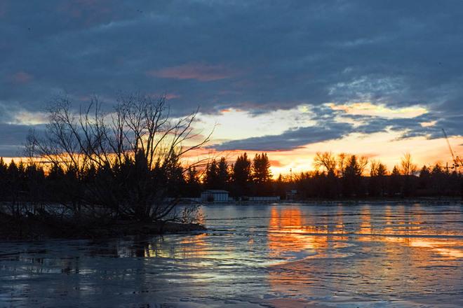 Sunset Reflections Lethbridge, Alberta Canada