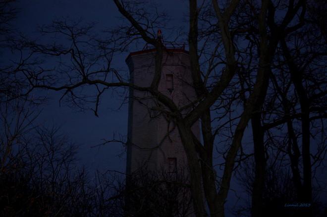 The lighthouse at dusk Brighton, Ontario Canada