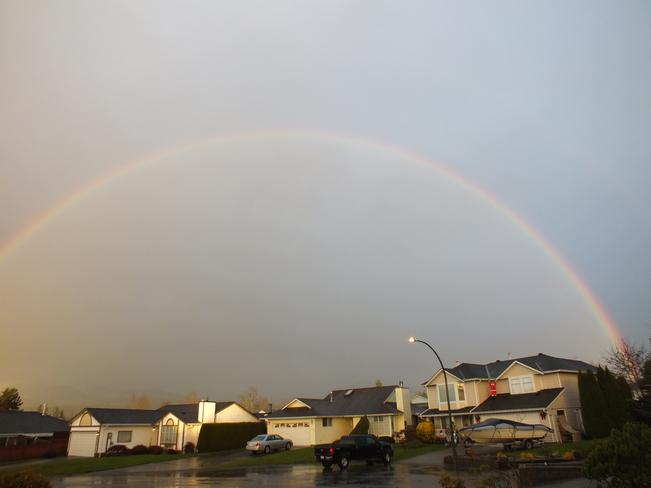 After heavy rain Maple Ridge, British Columbia Canada