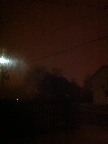 its getting pretty foggy Hanover, Ontario Canada