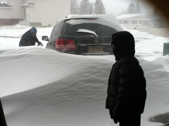 Blowing Snow Irricana, Alberta Canada