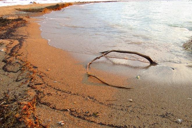 Curves on the beach Goderich, Ontario Canada