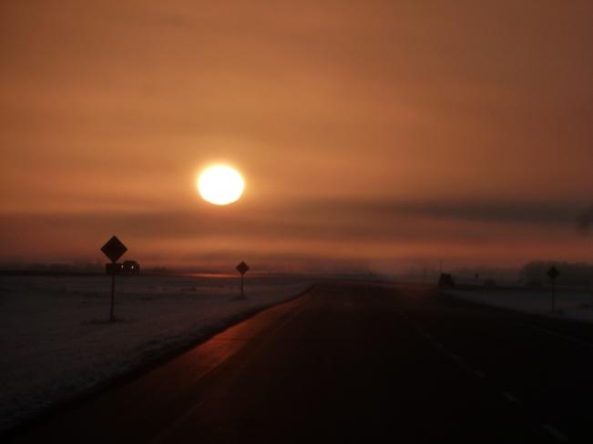 morning sun Kenaston, Saskatchewan Canada