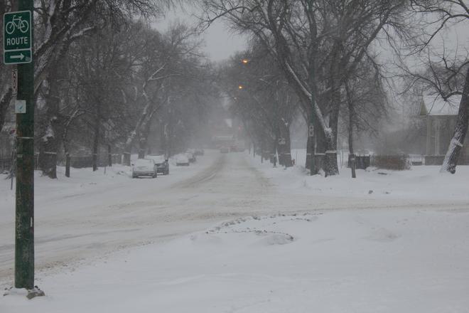 Balmoral Street toward Broadway Winnipeg, Manitoba Canada