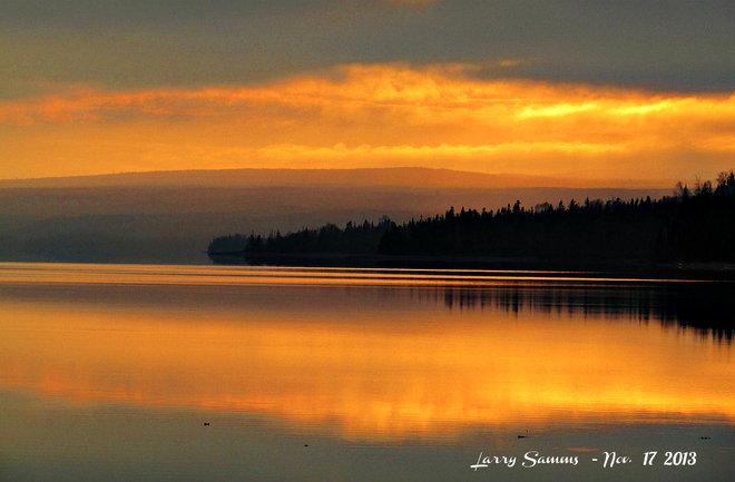 """Sunset at West Pond"" Springdale, Newfoundland and Labrador Canada"