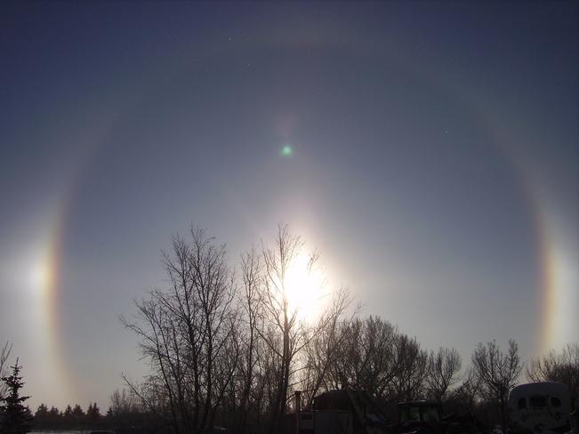 sun rings Youngstown, Alberta Canada