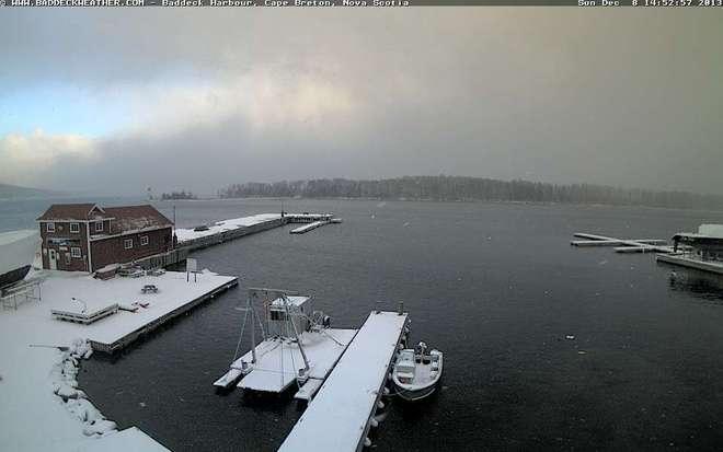 December Mix of Snow and Sun Baddeck, Nova Scotia Canada