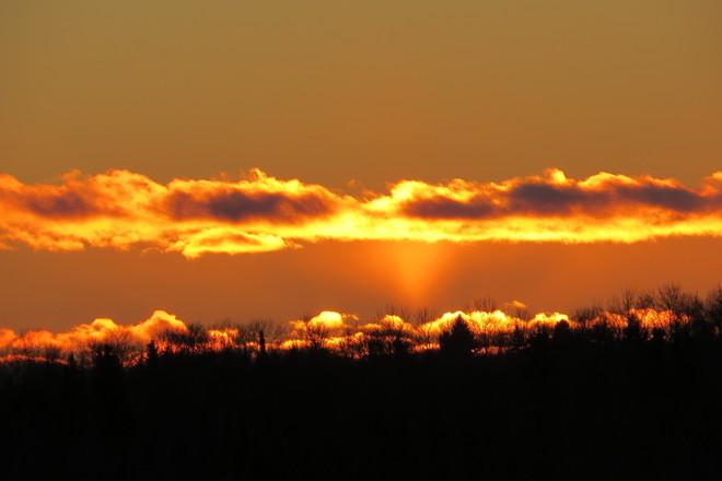 Bright sunset Timmins, Ontario Canada