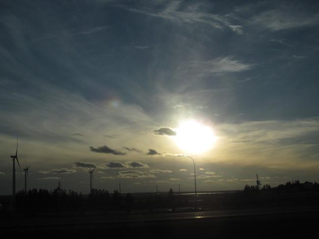 Clouds, Wind Turbines & Skies Amherst, Nova Scotia Canada