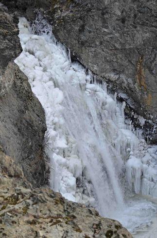 falls in ice Boundary Falls, British Columbia Canada