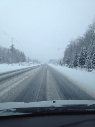 sloppy roads Bancroft, Ontario Canada