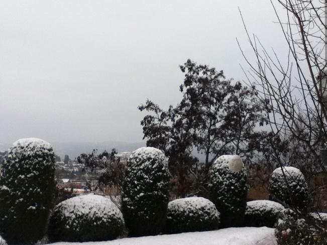 first heavy snowfall South Vernon, British Columbia Canada