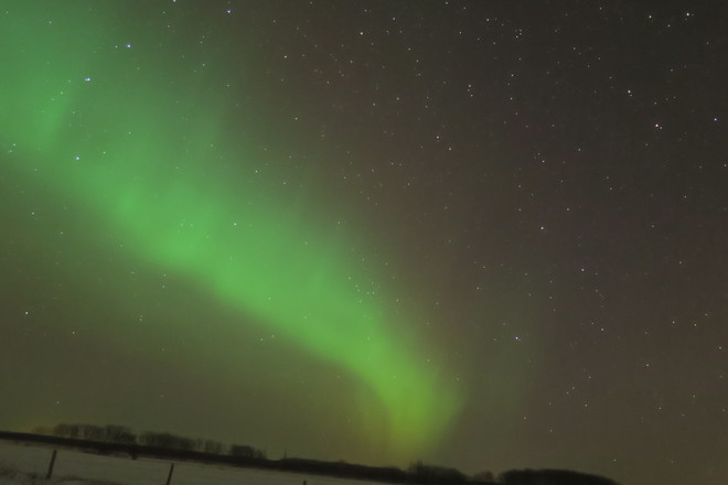 Northern Lights Dec 7, 2013 Garson, Manitoba Canada