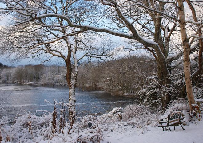 Snow Scene - Tusket River Tusket, Nova Scotia Canada