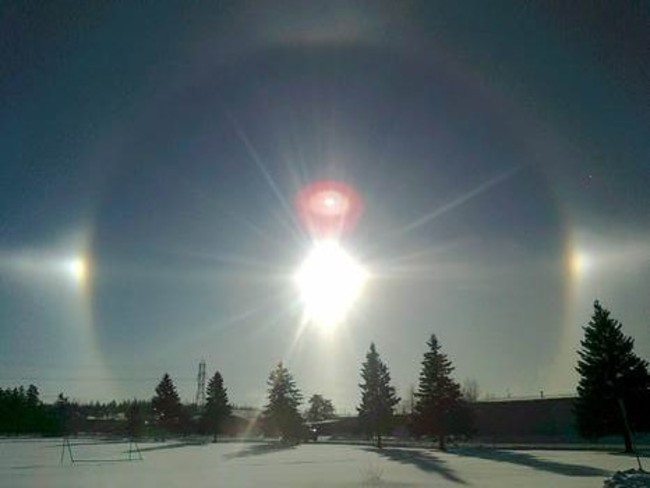 Friday morning sunrise Timmins, Ontario Canada