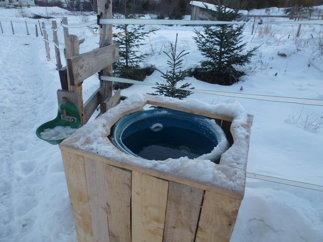 Running water in -40 degrees Saint-Aimé-des-Lacs, Quebec Canada