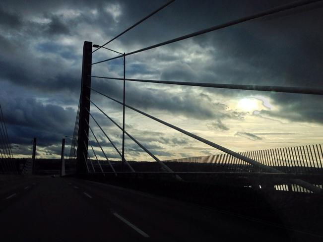 Sun braking through the clouds Langley, British Columbia Canada